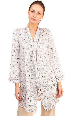 RRP €115 LOVE STORIES Robe Size S Patterned Two Tone Long Sleeve