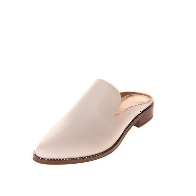 RRP €105 SAM EDELMAN Leather Mules Shoes Size 39.5 UK 6.5 US 9.5 Almond Toe
