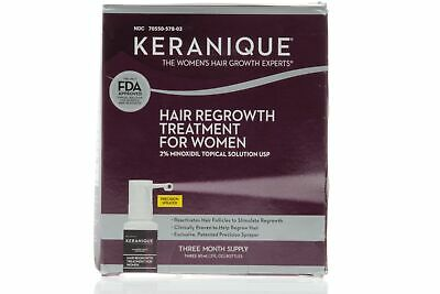 Keranique Hair Regrowth Treatment for women 2% Minoxidil Topical Sol 3 Month