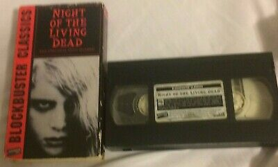 Night Of The Living Dead VHS Tape Zombie Horror Cult Classic George Romero