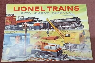 Vintage Lionel Trains Made With Magne Traction Railway Model Catalogue Book