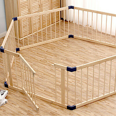 2020 new hot 6-Panel Wooden Pet Kids Baby Playpen Toddler Fence Play Yard