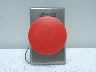 "NEW LOCKNETICS 623xRD RED 1 5//8/"" RED PUSHBUTTON SWITCH 12//24V PUSH TO EXIT SPDT"