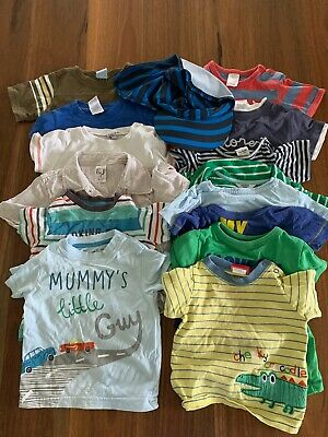 Size 0 Boy T-Shirt Bundle Bulk (15 Items)