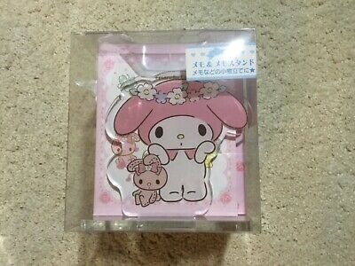Sanrio My Melody acrylic file stand with notebook hello kitty NEW