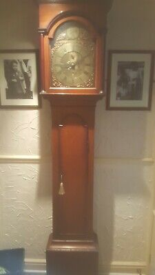 Antique Vintage Brass Grandfather Clock