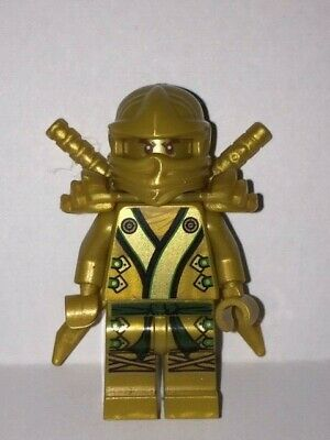 GENUINE - Lego Minifigure - Ninjago - Golden Lloyd & Armour - 70505 70503