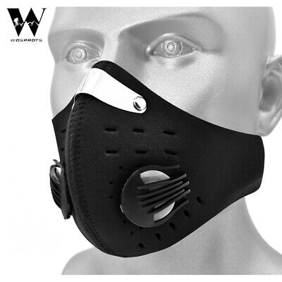 Reusable Carbon Filter Face Shield Mouth-Muffle Activated Anti Pollution Dust