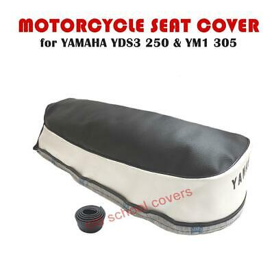 Motorcycle Seat Cover Yamaha Yds3 250 Ym1 305 Two Tone & Strap