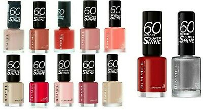 Rimmel 60 Seconds Super Shine 8ml Nail Polish - Beauty On Your Nails -New Bottle