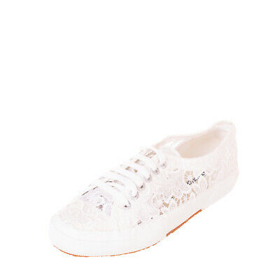 SUPERGA Sneakers Size 38 UK 5 US 7.5 Laces Panel Logo Detail Crepe Sole Low Top