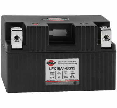 "Lithium MC/ATV Battery - 12V 285CCA Left ""+"" Terminal 5.83"" X 3.39"" X 3.46"""
