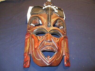 African Jambo mask from Kenya wooden hand carved