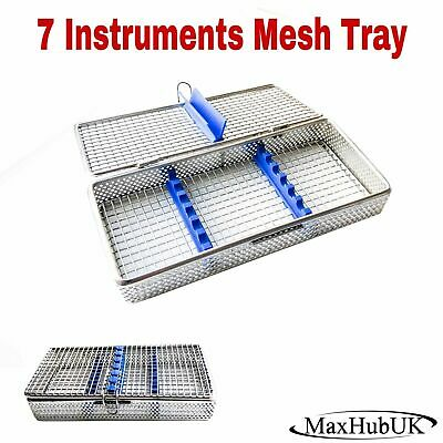MaxHubUK - Dental Surgical 7 Instrument Autoclave Mesh Cassette Tray Perforated