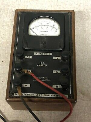 PRECISION APPARATUS CO. General Radio Use Navy Department DC Ammeter TESTER