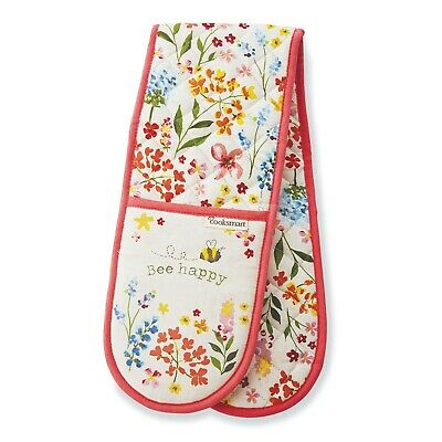 Cooksmart 9686 Dogs double oven gloves oven mitts. Dogs and paw prints