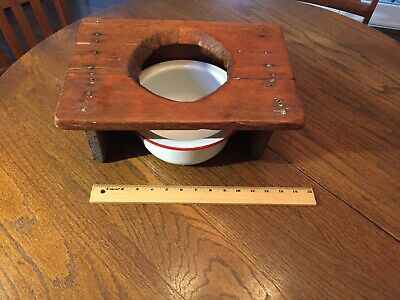 Antique Homemade Potty Chair - shabby chic!