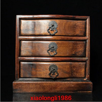 """8.4"""" China old antique Rosewood Small Drawer cabinet"""