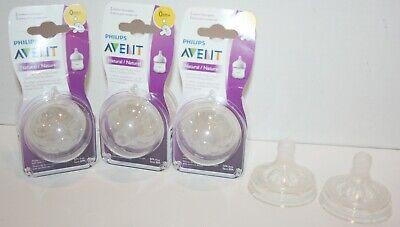 Phillips Avent Natural Nipples Slow Flow - 8pc *6 are SEALED*