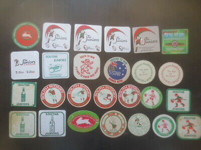 """26 different SOUTH SYDNEY """" RABBITOHS """" Leagues Club collectable COASTERS."""