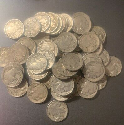 40 Full Date Buffalo Nickels 1930's No Black Coins