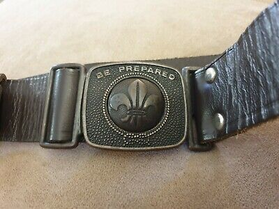 Vintage Leather Boy Scout Belt And Woggle Australian Made By Mackenzie Melb
