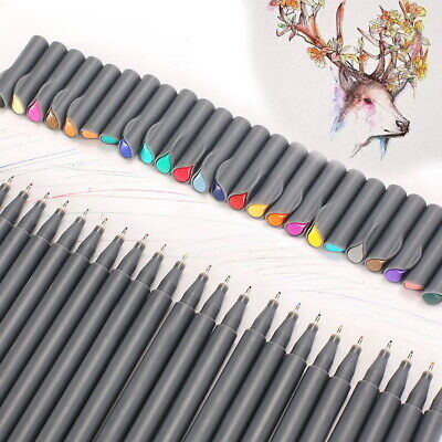 Set of 24 Fine Liner Paint Marker 0.4mm Drawing Sketching Writing Pen Coloring