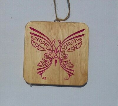 Wood Wall Hanging Marquesian Butterfly Carving