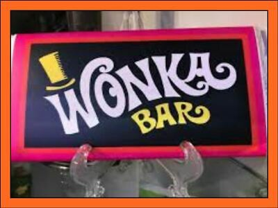 wonka bar real chocolate comes with Golden ticket novelty
