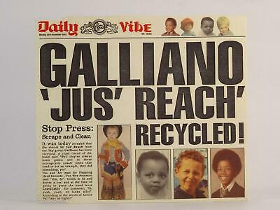 GALLIANO, JUS' REACH RECYCLED, 972, EX/G, 4 Track, CD Single, Picture Sleeve, PH