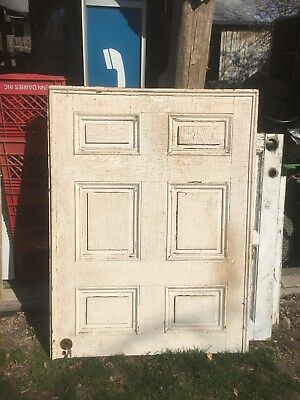 Vintage Shabby white painted Architectural Salvage Door Wall bed Head Board