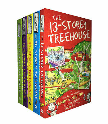 The 13-Storey Treehouse 5 Books Set By Andy Griffiths & Terry Denton-Brand New