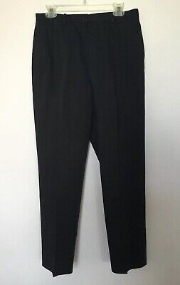 Lands End Women's Pants Navy Pleated Front Size 12 Petite