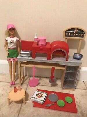 Playsets Barbie Pizza Chef Doll Playset, Blonde Hair Barbie Doll  Lot
