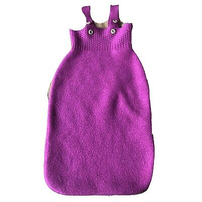 Disana Sleep Sack Baby 6-18 Months ? 0-12m? 100% Wool Boiled Thick Warm Pink
