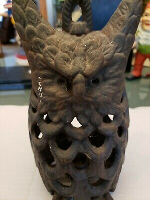 Vintage Cast Iron Owl Candle Holder