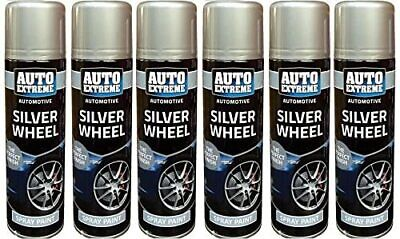 4x250ML SILVER ALLOY WHEEL SPRAY PAINT GLOSS auto extreme