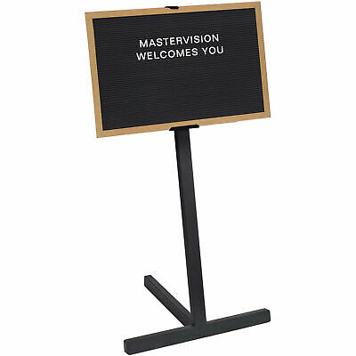 """MasterVision Letter Board Stand, Beech Frame, 36""""W x 24""""H Board"""