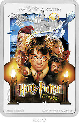 HARRY POTTER & THE SORCERER'S STONE 2020 Niue 1oz silver poster coin