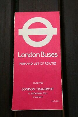 London Bus Map's 1976-1990 Various Editions