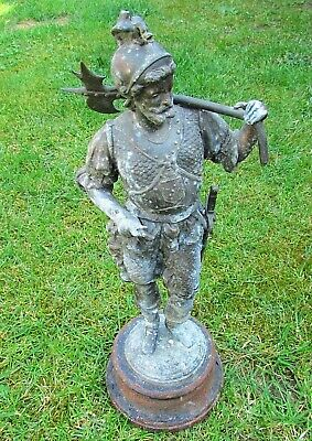 Very Old - Large Stunning Crusaders - Templar Statuette Great Details (310)