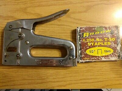 Arrow Fastener Co Model T-50 Stainless Steel Heavy Duty Staple Gun Stapler box