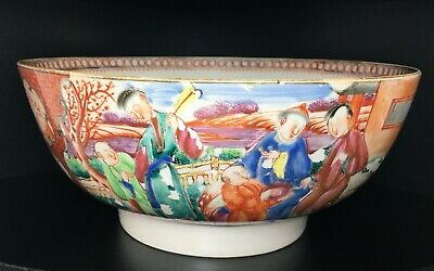 18th Century Chinese Export Porcelain Punch Bowl