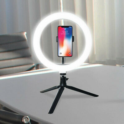 """10"""" LED Ring Light Dimmable Bicolor Lighting for Photography Makeup Youtube Live"""