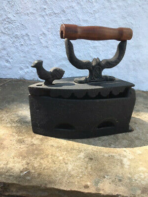 Antique Vintage Cast Iron Hot Coal Fired Clothes Press Iron