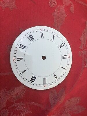 Super Enamel Dial From 8 Day French Platform Type Clock For Spares