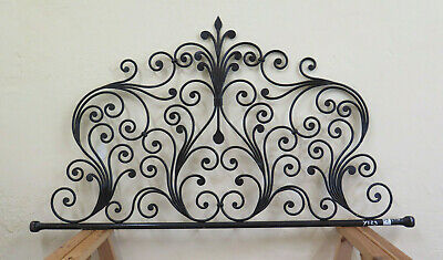 Bed Header for Bed 128 cm Wrought Iron a Tail Peacock Headboard Vintage 19