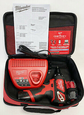 Milwaukee M12 Cordeless Drill 2401-20-With 2 Batteries