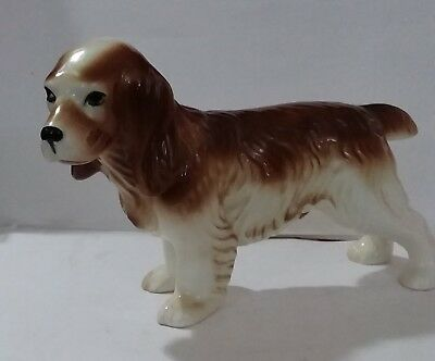 "Spaniel Brittany Large Ceramic Male Dog Figurine LOFISA Mexico 12"" x 7"" Chipped"