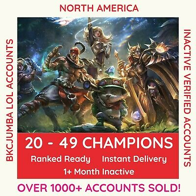 League of Legends Account -20+ Champions - NA North America - SMURF